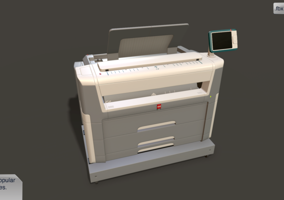 Industrial printer (midpoly / one block)