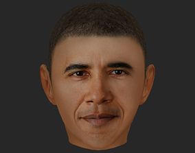 3D Obama Face with Lowpoly low-poly