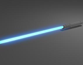 Blue Lightsaber 3D asset
