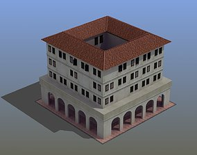 Roman Apartment Building 3D asset