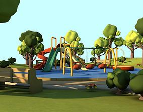 Toon Playground 3D model