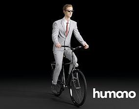 3D Humano Biking Woman 0717