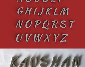 KAUSHAN uppercase and lowercase 3D Letters STL FILE