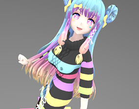 Colorful Girl Rainbow 3D model