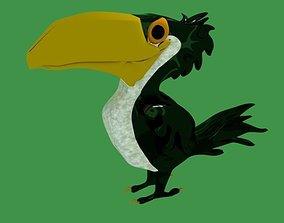 3D model Pelican Cartoon