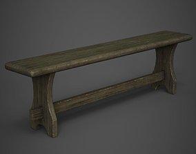 3D asset realtime Wooden Bench