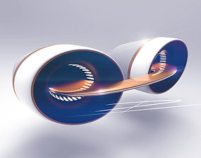 Automotive interior vent 3D model