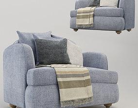 3D armchair design sofa