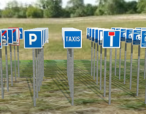 Road signs fr C normal-sized 3D model