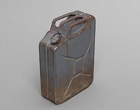 Used Jerry Can - WW2 - War - UE4 ready - Low 3D model 4