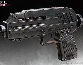 3D printable model DC17L Blaster Pistol