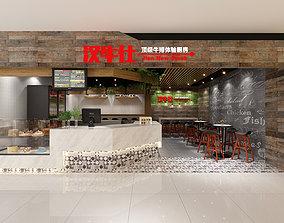3D Model modern restaurant scene bar