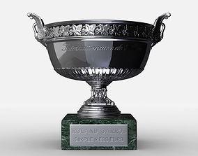 3D Roland Garros Mens Trophy