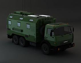 Kamaz Modify 6x4 Army M3 3D model weapon