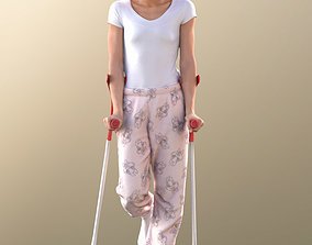 Diana 10894 - Standing Patient On Crutches 3D asset