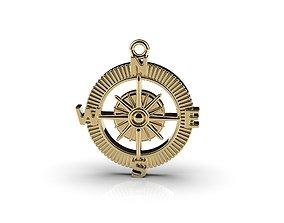 Compass Pendant 3D printable model