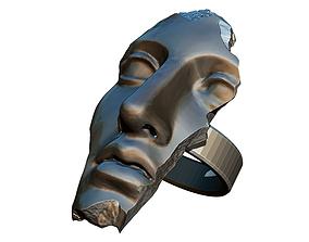 3D print model Greeck Rome God Face Crack Damage Slavage 3