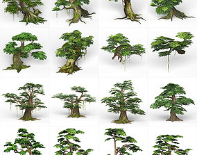 3D model Game Ready Fantasy Tree Collection
