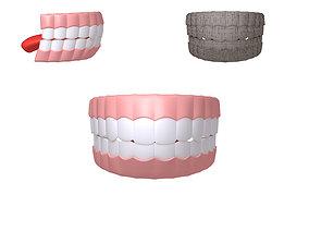 Human Mouth 02 Teeth Cartoon 3D model