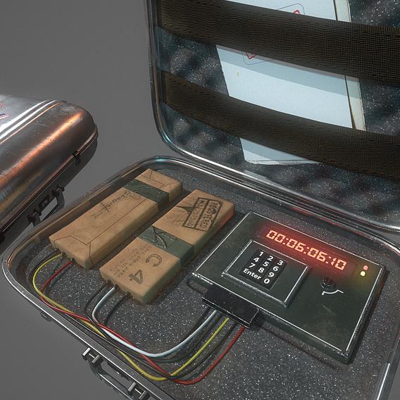 Briefcase Bomb C4