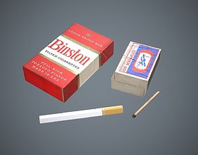 Cigarettes and matches 3D asset