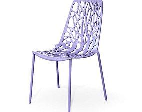 Modern Purple Chair 3D model