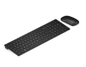 Black keyboard vray-c4d 3D model