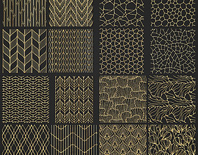 texture collection of golden lattice 3D