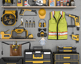 garage tools set 4 3D model