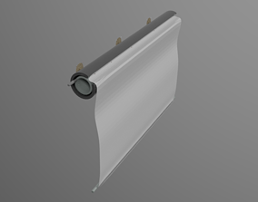 Wall mounted rolling screen 3D model