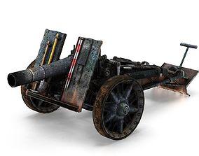 German howitzer 3D asset