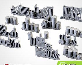 POST-APOCALYPTIC BARRICADES 3D printable model