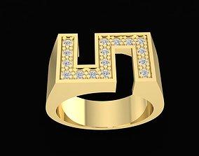 3D printable model 1569 Special diamond men ring
