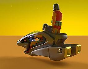 3D model Sci-Fi Speeder Bike