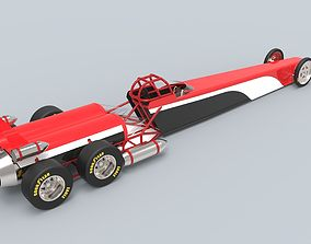 3D model Twin-engined jet dragster