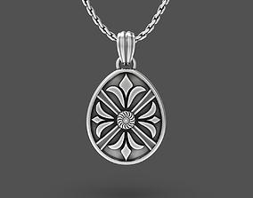 Easter egg Pisanka pendant with 3D print model 2
