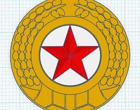 3D print model North Korean Army Cap Badge
