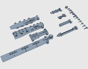 Low-poly Armada 3D model