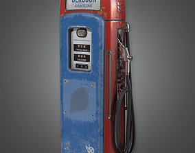 ATT - Old Gas Pump Antiques - PBR Game Ready 3D model