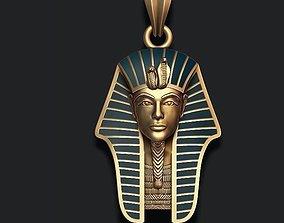 Pharaoh pendant with enamel 3D print model