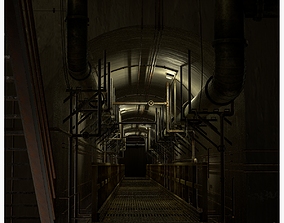 3D asset Basement Tunnel Environment