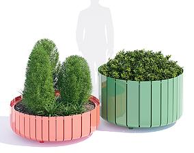 Stripes planter two 3D