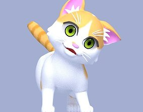 kitty 3D model rigged Cartoon Cat