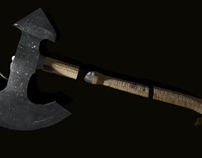 battle-axe Medieval Axe 3D model low-poly