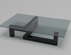 3D model stol Glass table