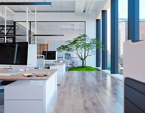 3D industrial Office Interior