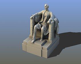 3D Lincoln Memorial Statue