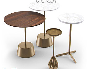 West Elm Side Table Collection I 3D model