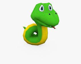 Snake Animated 3D model VR / AR ready