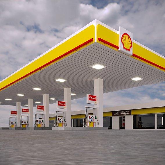 Gas Station Shell - PBR